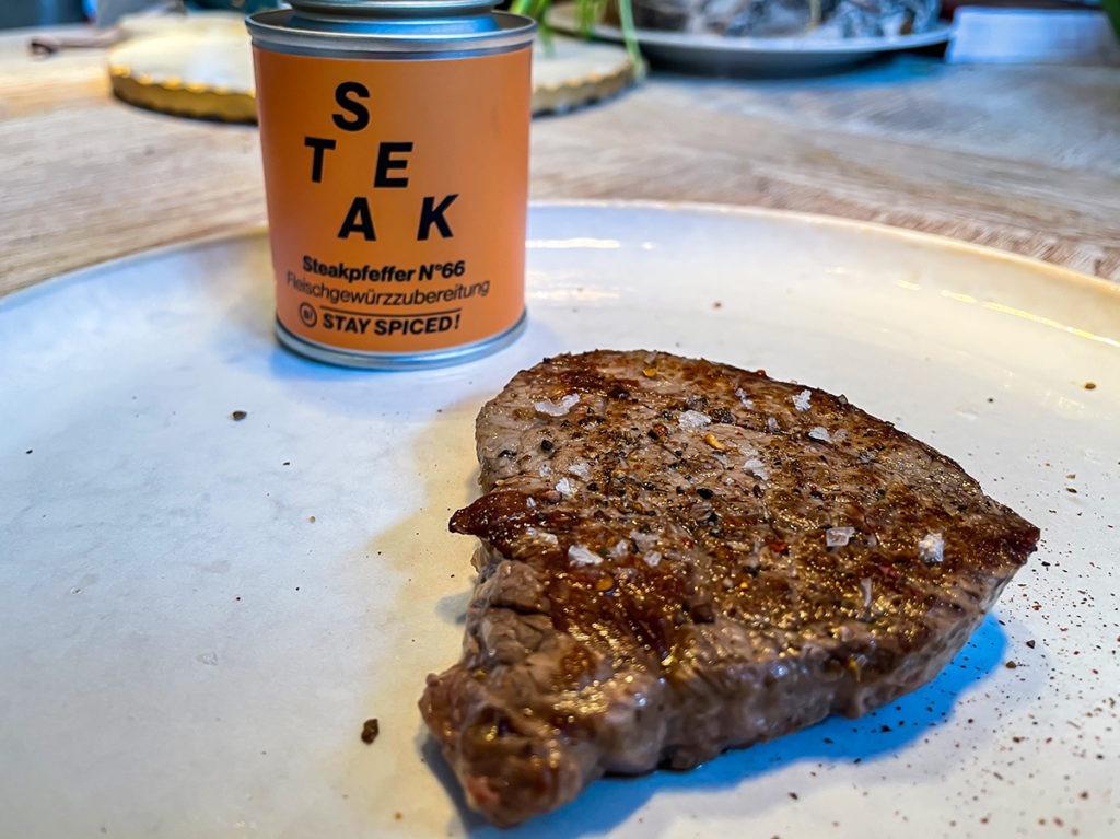 Steak mit Stay Spiced!
