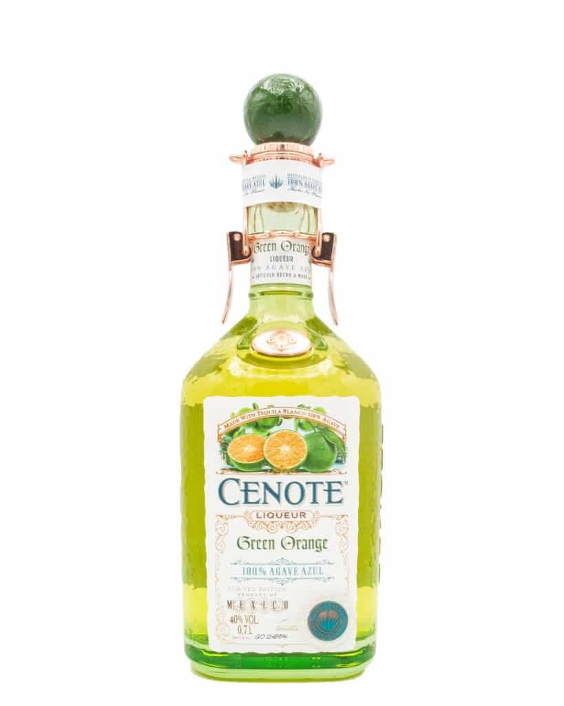 Cenote Tequila Green Orange Likör für Sommer-Cocktail