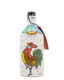 """Muraglia Olivenöl in Keramikkrug mit Motiv """"Der Hahn"""""""